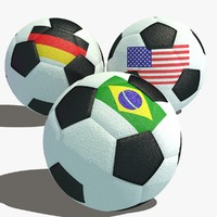 3d model soccer football ball