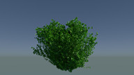 3d dxf - burning bush realistic