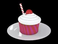3ds max cupcake cake