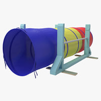 3d dog agility tunnel model
