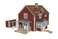 3d finnish house model