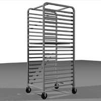 3d sheet tray rack style model