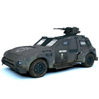 3dsmax car military apc
