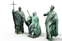 3d statues cathedral model
