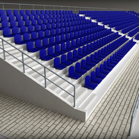 concrete stadium seating tribune 3d 3ds