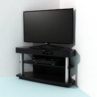 corner tv-stand player tv 3d max