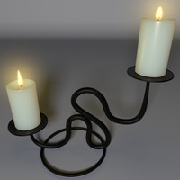3ds max realistic candle holder