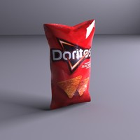 chip bag 3d obj