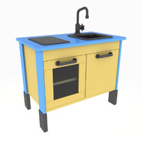 3d model duktig mini kitchen