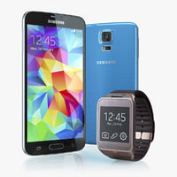 3d model samsung galaxy s5 gear