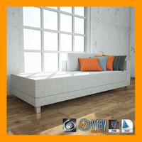 3d model bench v-ray