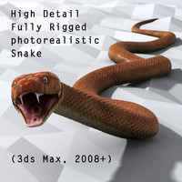 3d generic snake animation