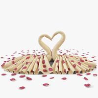 3d towel petal cloth model