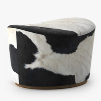 3d ikea pouffe model