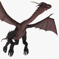 dragon 3 pose 1 3d model