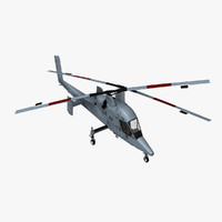 3d model kman kmax kaman helicopter