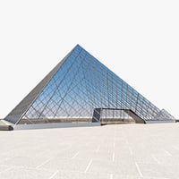 louvre gallery 3d model