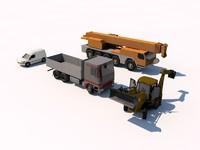 crane truck van 3ds