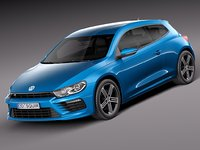 3d model of volkswagen scirocco r