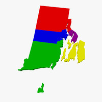 3d counties rhode island model