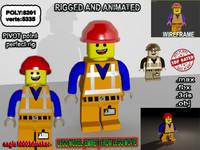 3d lego emmet model