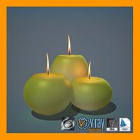 candles 3d max
