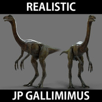 gallimimus jurassic park 3d model