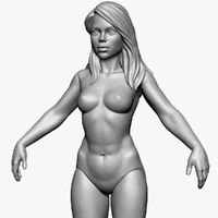 girl doll zbrush 3d 3ds