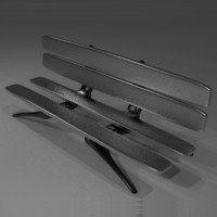 3ds futuristic curvy bench