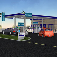 3d obj gas station