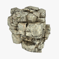 rock cliff 3d obj