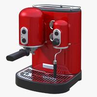 3d obj realistic espresso maker