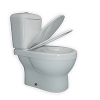 3d model toilet modeled realistic