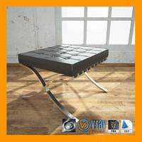 3d model ottoman barcelona chair
