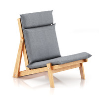 s max grey lounge chair