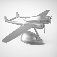 3d model eichholtz airplane fokker dixieland