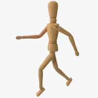 Wooden Mannequin Running model statue art artist draw drawing painting sketch sculpture sculpting vray design