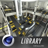 3d library lounge