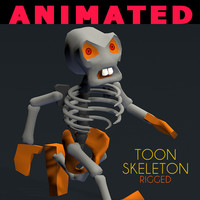 3d toon skeleton rigged cartoon