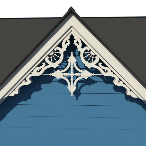 Decorative Gable 3d Model