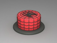free spiderman cake 3d model