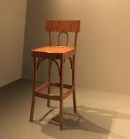 bar stool 3d rfa