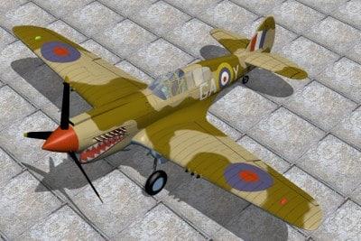 Curtis P40 Kittyhawk.JPG