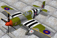 free lwo model north american fighter mustang
