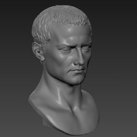3d model of printable roman bust