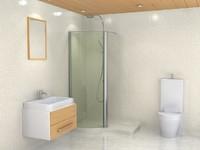 bath room 3d max