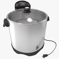 electric turkey fryer 3d 3ds