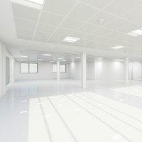 3ds max interior office shell