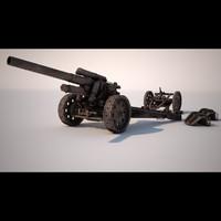 105 mm howitzer 3d max