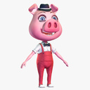 Cartoon Pig 3D models